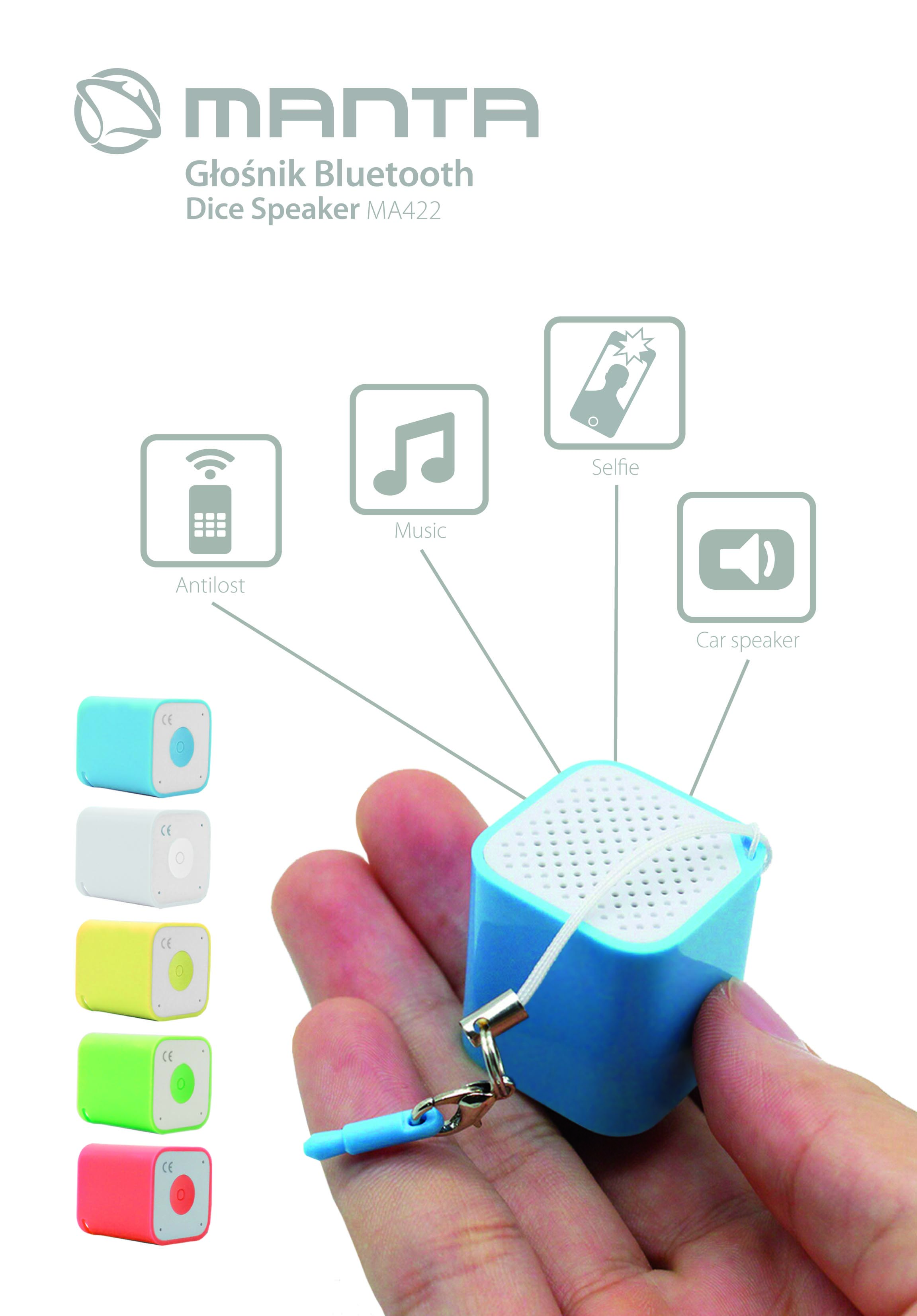 test manta dice bluetooth speaker ma422 ma a. Black Bedroom Furniture Sets. Home Design Ideas