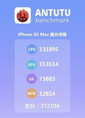 Apple iPhone XS antutu