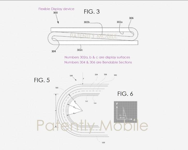 Google składany smartfon patent