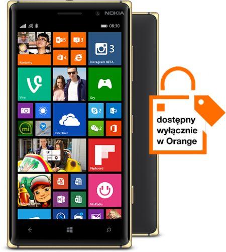Orange Nokia Lumia 830