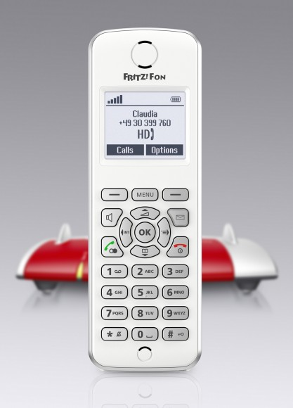 The cordless FRITZ!Fon M2 telephone is specially optimised for all FRITZ!Box models with a DECT base station, but it also works with other DECT bases.The new FRITZ!Fon supports five languages: English, French, Italian, Spanish and German. This premium device for fixed-line and internet telephony shines with outstanding acoustics in HD quality. It offers online services such as e-mail, internet radio, news feeds and podcasts. The M2 is secure straight out of the box because it only allows encrypted connections.