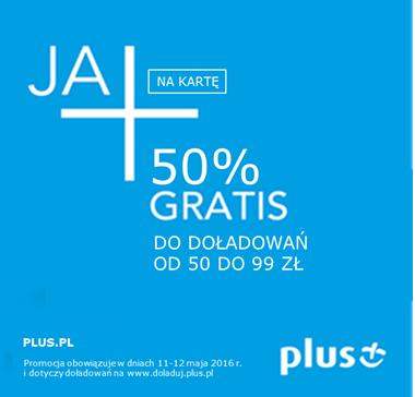 Plus 50% gratis